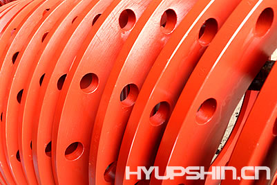 Lap Joint Flanges, Red Paint Coating, Jinan Hyupshin Flanges Co., Ltd